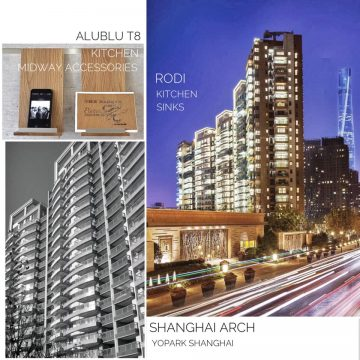 AluBlu Midway Kitchen Accessories + RODi Kitchen Sinks at Shanghai Arch