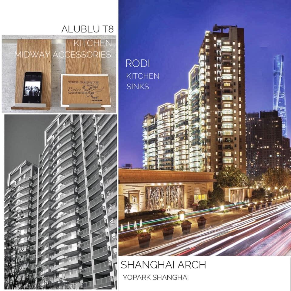 AluBlu Midway Kitchen Accessories + RODi Kitchen Sinks at Shanghai Arch