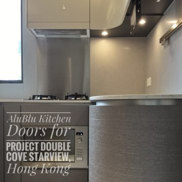 AluBlu Curve Kitchen Doors for Project Double Cove Starview, HK
