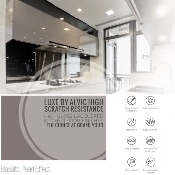 LUXE by ALVIC at GRAND YOHO – High Scratch Resistance High Gloss Lacquered Kitchen Doors